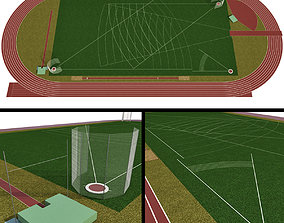 3D Universal sports field Olympic Stadium