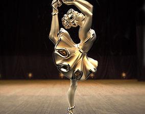 3D print model stylish Ballet soul pendant