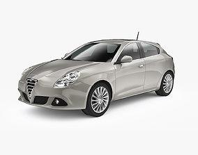 3D asset Alfa Romeo Giulietta 2010