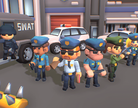 3D asset Police Station - Proto Series