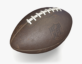 American Football 3D asset VR / AR ready PBR
