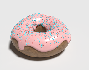 chocolate 3D model DONUT
