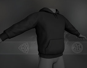 3D model Black Winter Hoodie