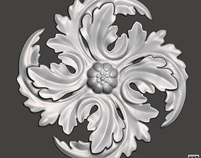 WoodCarving floral detail - 3d model for CNC -