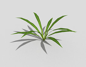3D model realtime palm Low poly Plant