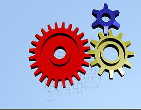 3D model three gears