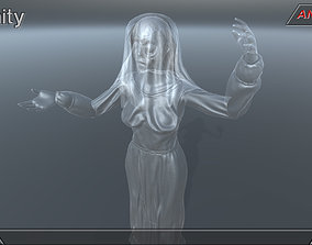 3D asset Fantasy character 08--Female ghost