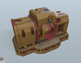 Sci-fi energy node 3D model low-poly