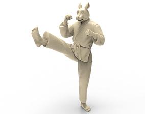 3D printable model Rabbit Front kick
