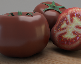 3D asset low-poly Tomato