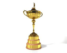 Trophy of the Ryder Cup Golf Cup 3D