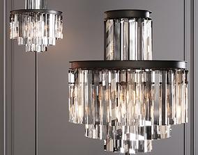 3D model RH 1920S ODEON CLEAR GLASS FLOOR LAMP 4-TIER