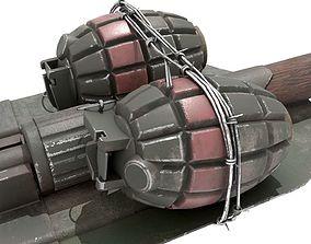 3D model WW2 Improvised Exposive - Folding Shovel Stick