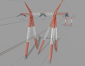 Electricity Pole 25 3D asset
