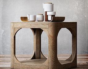RH Martens square side table 20sq 3D model
