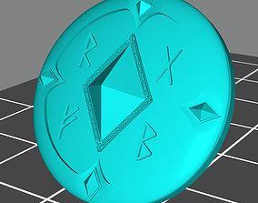 Wolf marine style viking shield with 3D printable model 3