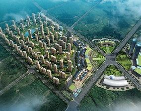 building exterior architecture 3D model