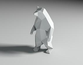low poly 3d model bear polygonak