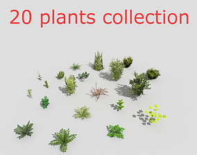 low poly plants collection 3D model