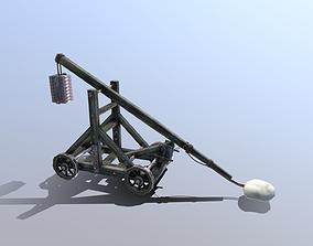 3D model Medieval Trebuchet