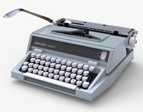 3D 1970 Hermes media 3 Typewriter