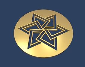 Star of David Medallion 3D synagogue
