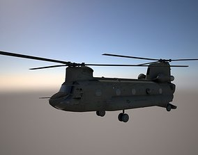 helicoptero militar 3D asset