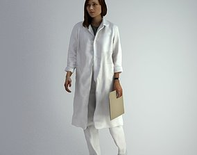 3D Scan Woman Doctor 007 character