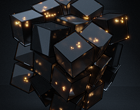 Scifi Cube- Abstract Cubes in Cube 3D asset