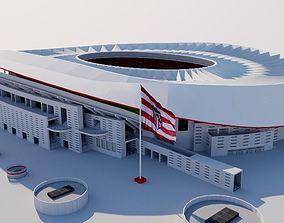 3D asset Wanda Metropolitano - Madrid Spain