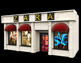 3D ZARA DRESS- Store Facade Vol 01