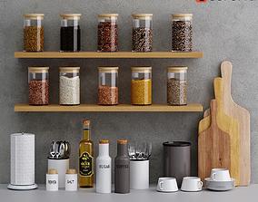kitchen decor set 02 3D model PBR