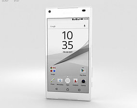 3D model electronics Sony Xperia Z5 Compact White