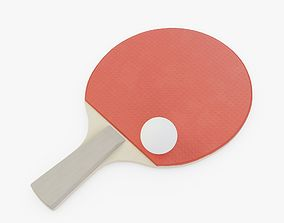 3D asset Table Tennis Paddle and Ball
