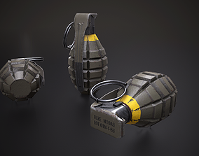 game-ready Grenade MK2 - Low Poly 3D Model