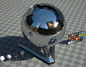 Chrome - VRay shader with textures files 3D model