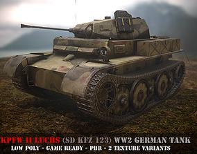 Pz II Luchs - WW 2 German Tank - Game Ready - PBR rigged 2