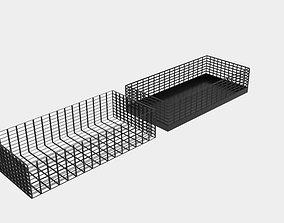 3D asset Rectangle Wire Bin