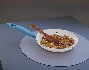 Potato Sausage Hash Pan 3D model