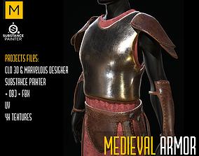 Medieval Armor cloth 3D asset low-poly