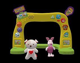 Set toy decor kids 3D asset
