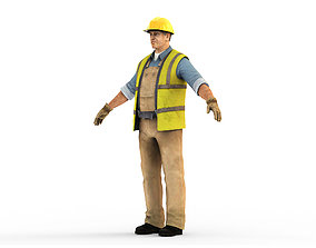 3D model Worker CATRig Pose A
