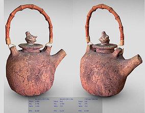 3D asset Hand made tea pot with a bamboo handle