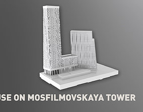 3D model House on Mosfilmovskaya Tower
