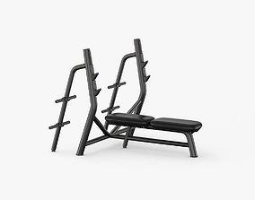 3D Technogym Element Horizontal Bench