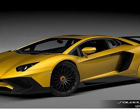 3D model Lamborghini Aventedor SV LP 750-4