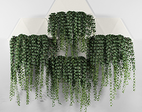 3D model Hexagonal Honeycomb Succulent Wall Planter