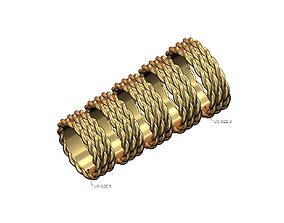 Triple braided wire fashion band US sizes 3D print model