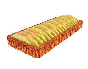 3D model Peach tart