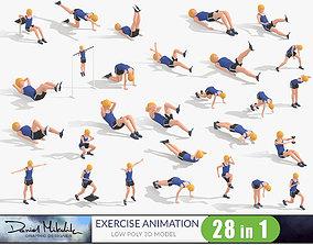 Exercise Animations Bundle Woman 3D asset